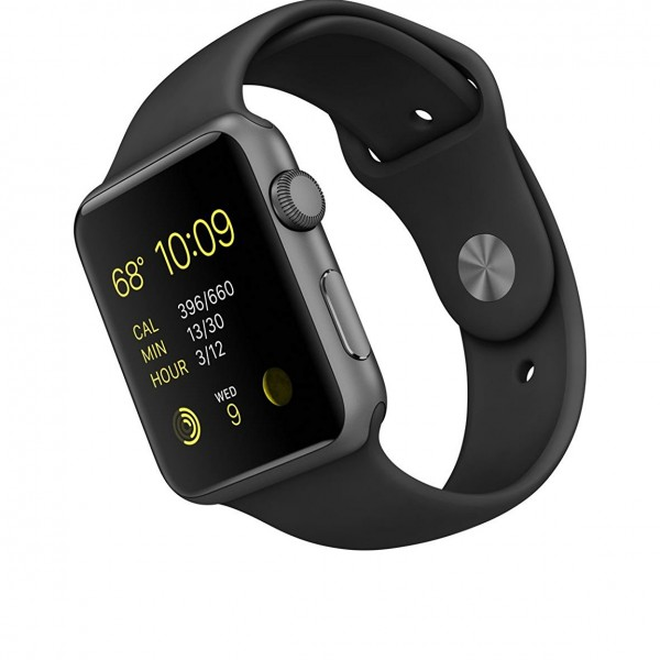 apple smartwatch features and price in india 2017 600x600 Apple Watch Sport with Space Grey Aluminum Case and Black Band
