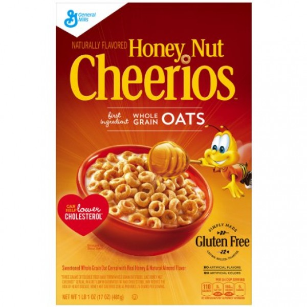 general mills cheerios toasted whole grain oat cereal nutrition facts 600x600 Honey Nut Cheerios Gluten Free Cereal