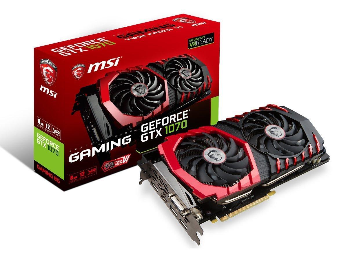 MSI Gaming GeForce GTX 1070 8GB GDDR5 DirectX 12 VR Review
