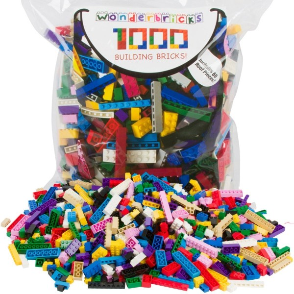 individual lego bricks for sale walmart amazon toys r us  600x600 Building Bricks 1000 Pc Bulk Blocks and 60 Roof Pieces