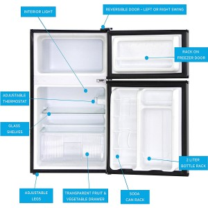 mini refrigerator freezer combo water dispenser ratings 300x300 Avalon by Keyton Refrigerator and Freezer with Reversible Doors
