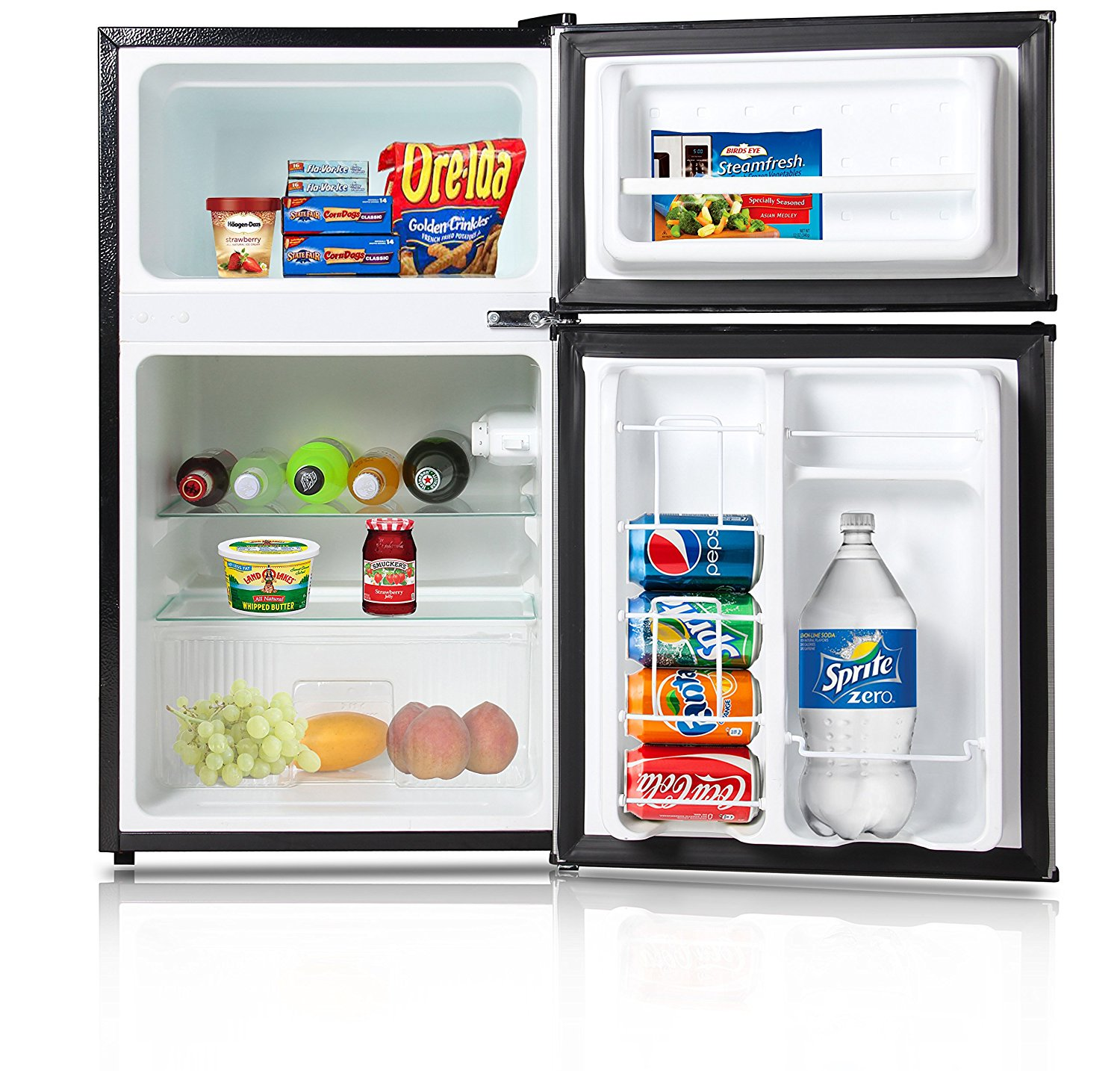 small fridge freezer with ice maker french door bottom undercounter Avalon by Keyton Refrigerator and Freezer with Reversible Doors