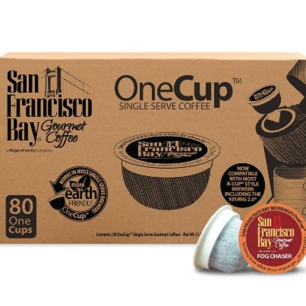 san francisco bay fog chaser coffee review caffeine amount 600x600 San Francisco Bay OneCup, Fog Chaser, 80 Single Serve Coffees