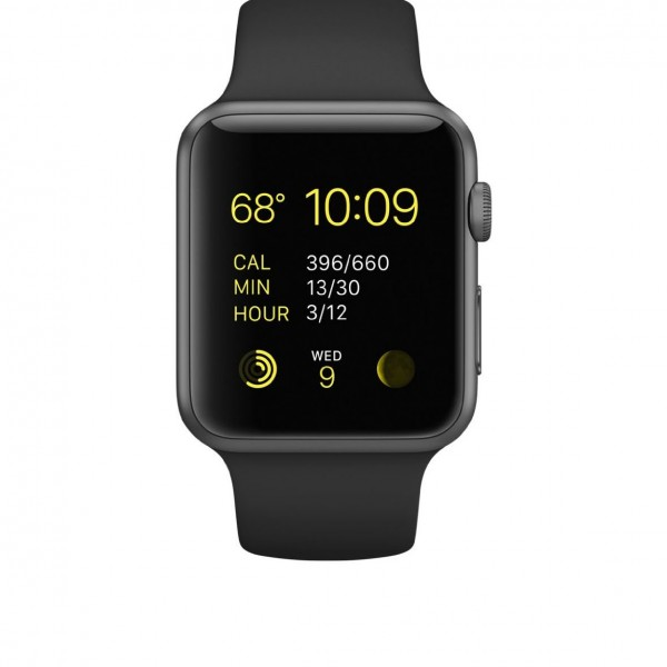 Apple Watch Sport with Space Grey Aluminum Case and Black Band