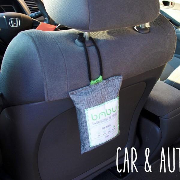 diy air freshener bags for truck van cars cabinets locker closet pantry 600x600 Bamboo Charcoal Car Deodorizer and Air Freshener Bag