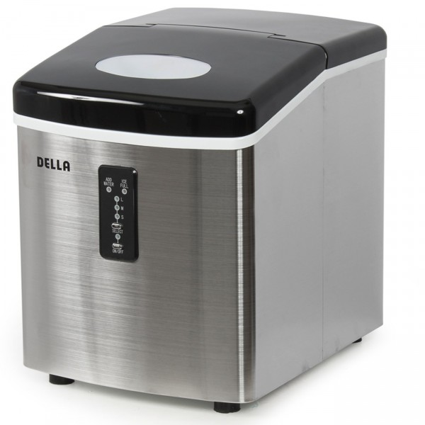 ice cube maker machine price in pakistan malaysia philippines south africa 600x600 4 Make Your Summer Party Using Della Stainless Steel Ice Maker 35lb/Day Portable Countertop Freestanding Icemaker