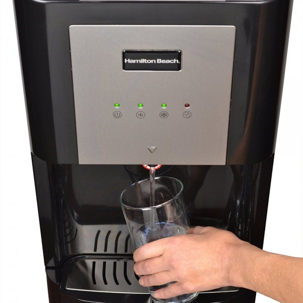 Black-Color Hamilton Beach BL-1-4A Water Cooler Dispenser with Hot, Cold and Room Temperatures and Bottom Loading